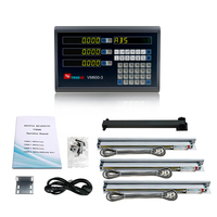 3 Axis DRO kit Complete Lathe Milling Digital Readout Linear Ruler 150 250 350 450 550 650 750 850 950mm Scale Free Shipping