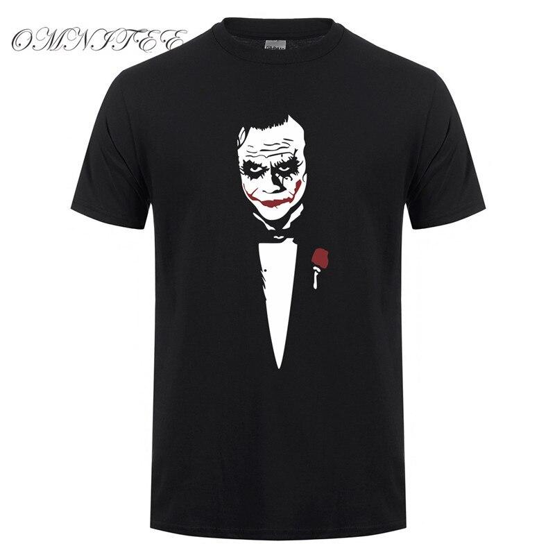 Модные летние стильные Джокер футболки мужские хлопковые мужские футболки новые футболки с принтом Джокер с коротким рукавом мужские топы OT-418