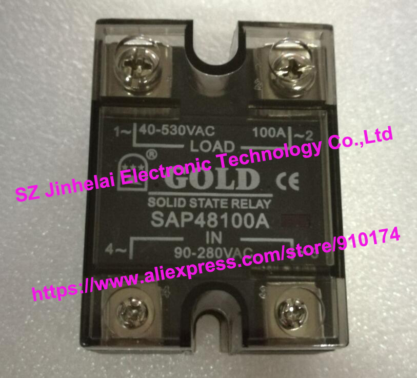 New and original  SAP48100A  GOLD Single phase AC Solid state relay  90-280VAC  40-530VAC  100A new and original sa340100d sa3 40100d gold three phase solid state relay 480vac 100a
