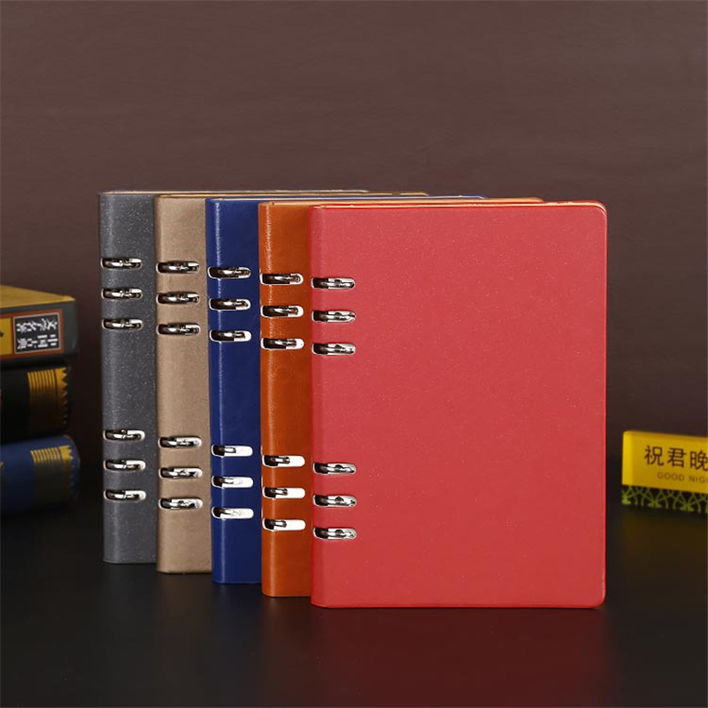 A5 Coil / Spiral Leather Business Notebook Creative Classic Stationery Office School Supplies Diary Notebooks Hardcover Notepad creative leather notebook a5 school office supplies stationery cute diary notebooks metal rubber buckle conference notepad gift