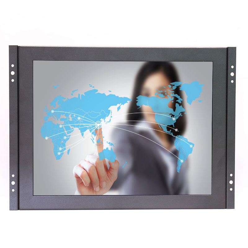 Open Frame 12 inch 1024x768 HD 4:3 Metal Shell HDMI VGA USB Industrial Four-wire Resistive Touch Monitor LCD Screen Display zk080tn 705 8 inch 1024x768 4 3 metal case vga signal open wall hanging embedded frame industrial monitor lcd screen display