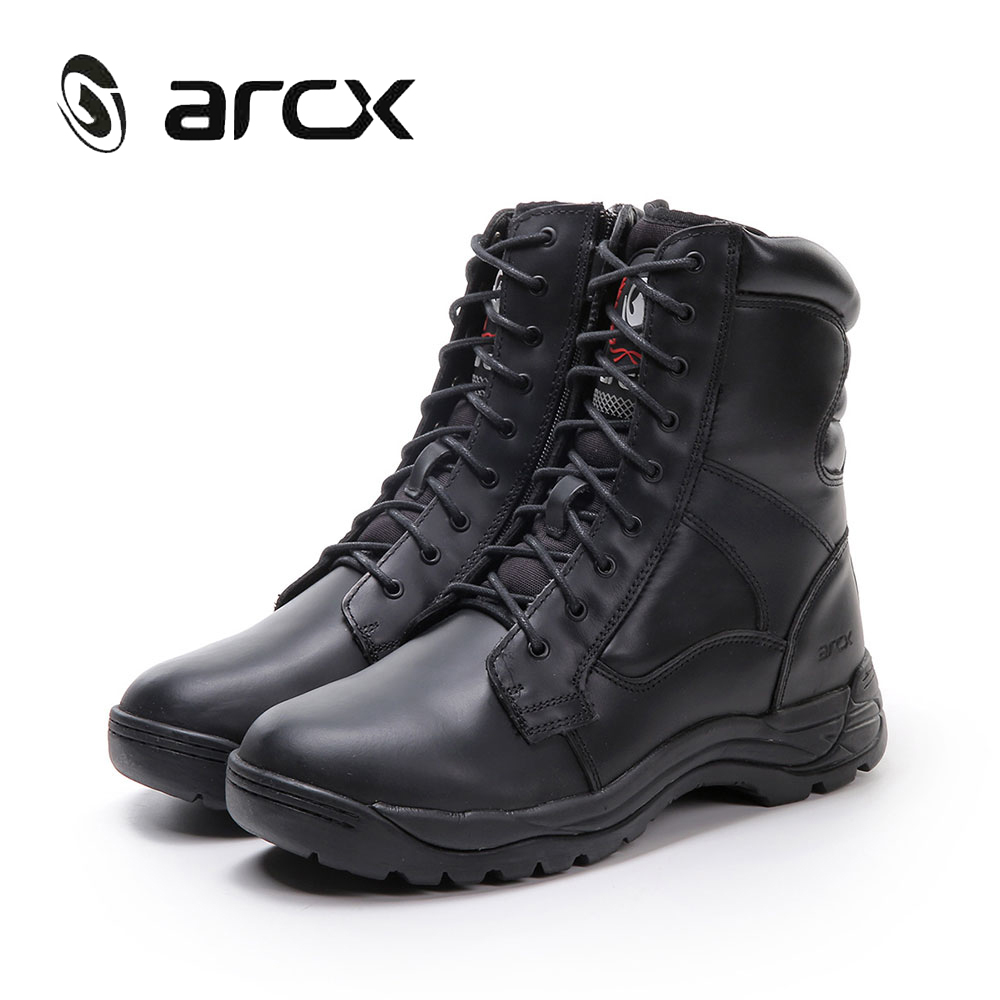 ARCX Motorcycle Boots Men Cow Leather Motocross Boots Motorbike Biker Boots Men Cruiser Touring Riding Shoes Moto Botas L56669 pro biker motorcycle shoes motocross racing shoes motorbike leather shoes waterproof size eu 40 45 a9001 swx brand moto