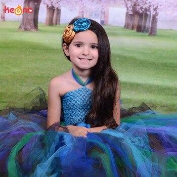 Keenomommy dość paw Tutu sukienka dla dziewczynek urodziny strój zdjęcie Prop Halloween kostium dla dzieci paw sukienka Vestido