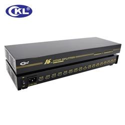 Ckl 16 منفذ hdmi الفاصل الرف جبل معدن حالة يدعم hdmi 1.4 فولت عالية الدقة 3d 1080 وعاء HD-916