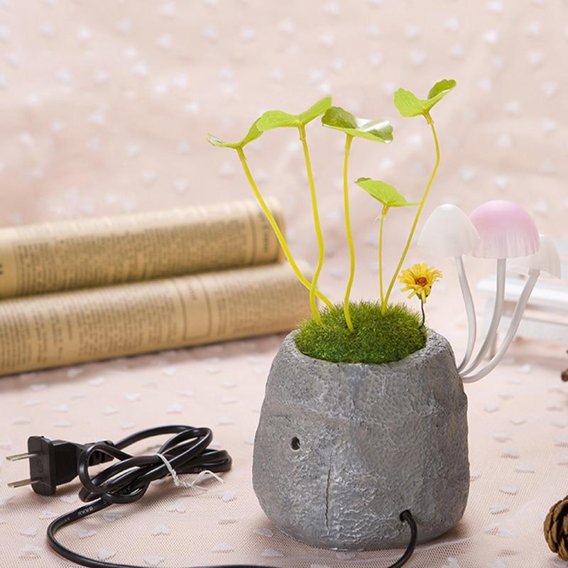 Plant Lighting Mushroom Potted Plant LED Night Light Colorful Lights Sensor Sensitive Lamp For Baby Kids Bedside Decoration