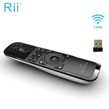 الأصلي Rii Mini i7 يطير ماوس هوائي 2.4 جيجا هرتز ماوس هوائي لاسلكي التحكم عن بعد استشعار الحركة ل الذكية أندرويد TV Box X360 PS3 PC