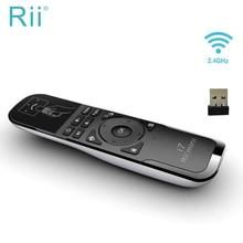 מקורי Rii מיני i7 לטוס אוויר עכבר 2.4Ghz Wireless אוויר עכבר מרחוק בקרת תנועת חישה עבור החכם אנדרואיד טלוויזיה תיבת X360 PS3 מחשב