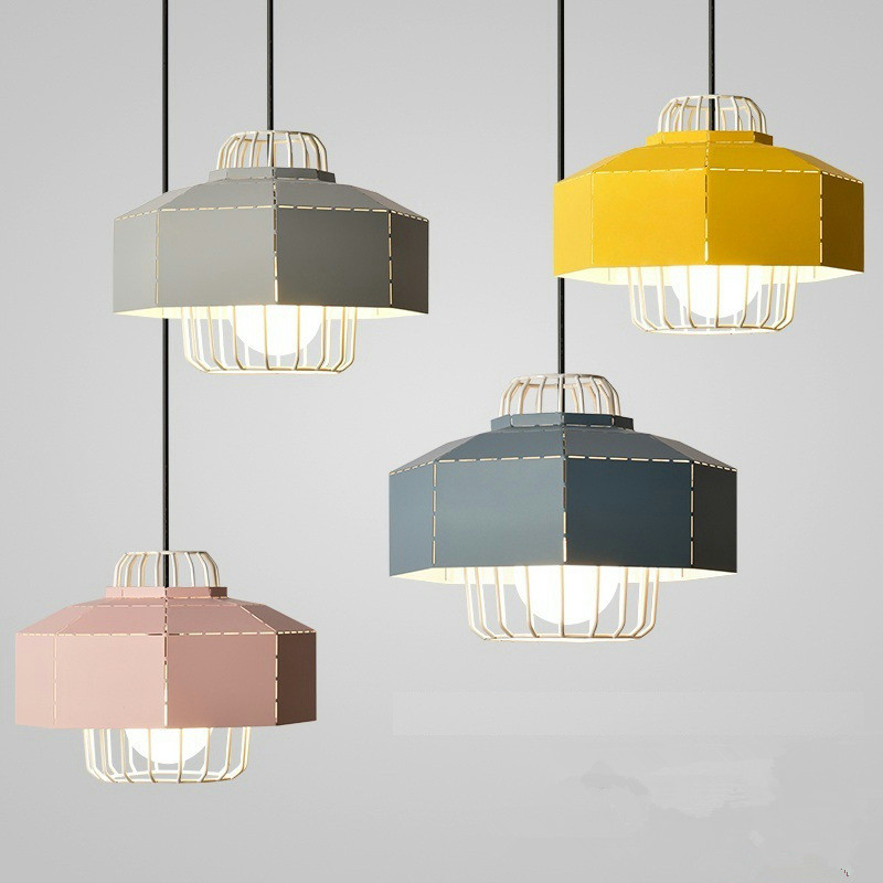 Postmodern Nordic Creative Restaurant Chandelier Simple Bar Counter Lamp Personality Macaron Cafe Decoration Lamp Free Shipping