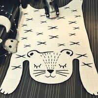 Svetanya белый тигр ребенка ползать коврики 130x185 см Одеяло пол Ковры/Ковры