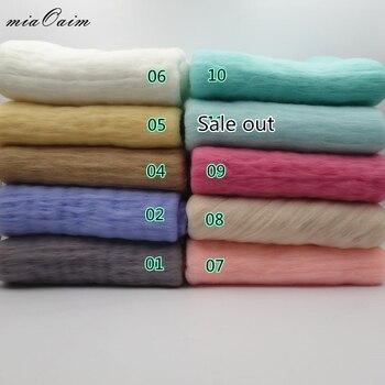 5Colors/Lot Newborn Baby Blanket 50*45cm Fluffy Wool Felt Fleece Real Pure Wool Basket Filler Stuffer Newborn Photography Props
