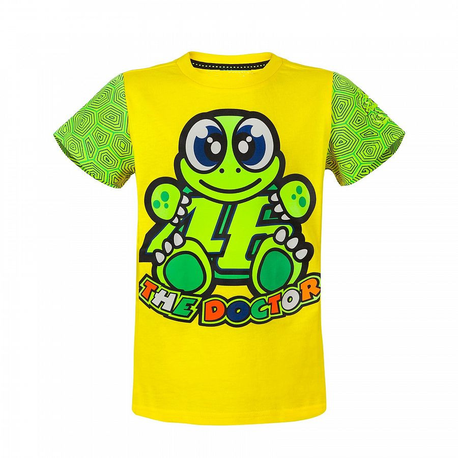 Moto GP Valentino Rossi Kids T-Shirt Large 46 Signature the doctor Yellow Motorcycle Sports VR46 T shirt