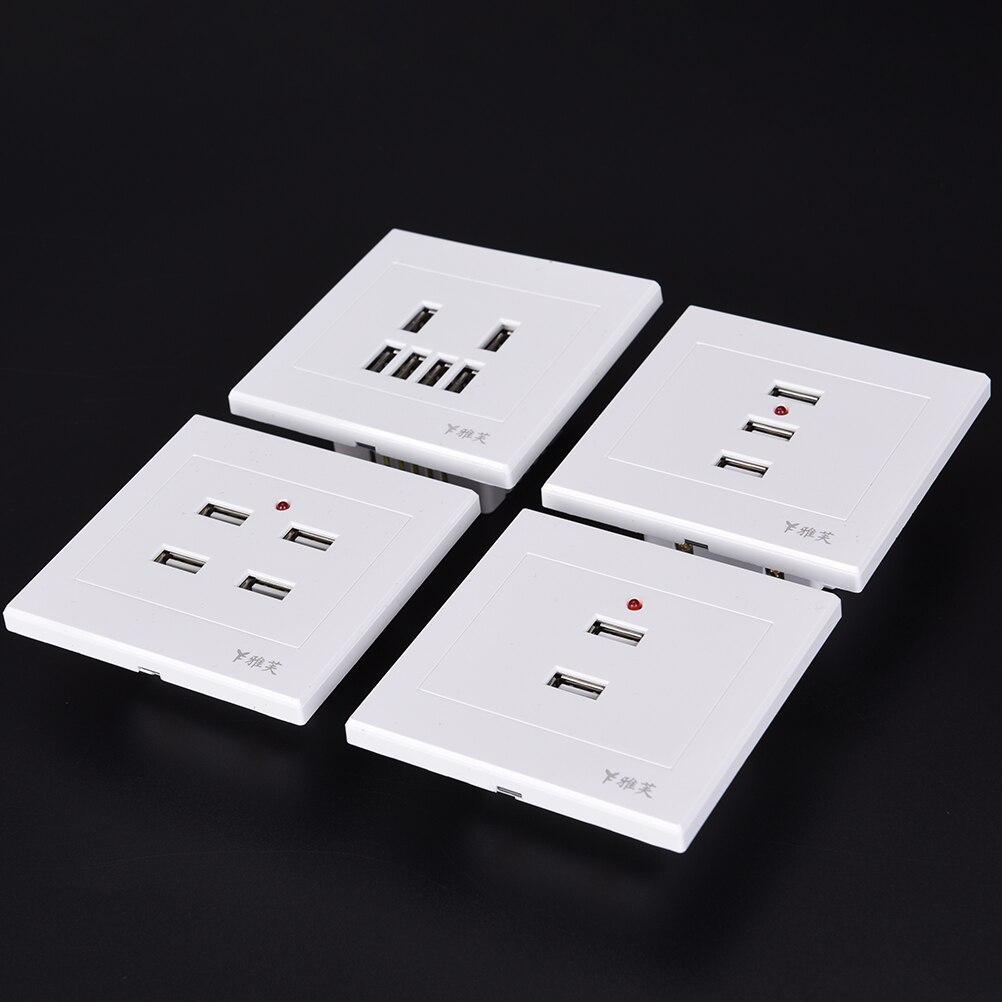 2 Port USB Prise Murale Chargeur Plaque AC Adaptateur d/'alimentation Prise Récipient avec Swich