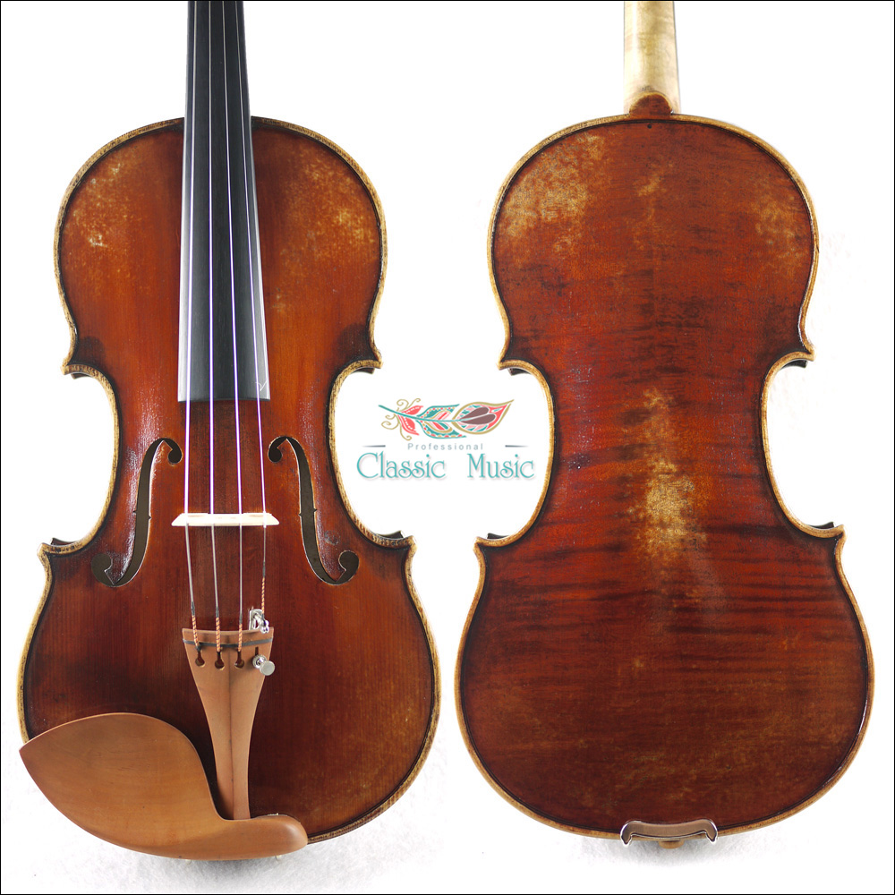 US $189 99 |Professional Workshop Violin,Handmade, No 1495  Russian Spruce  wood, Nice Warm Sound, Top Antique Hand Oil Varnish,-in Violin from Sports