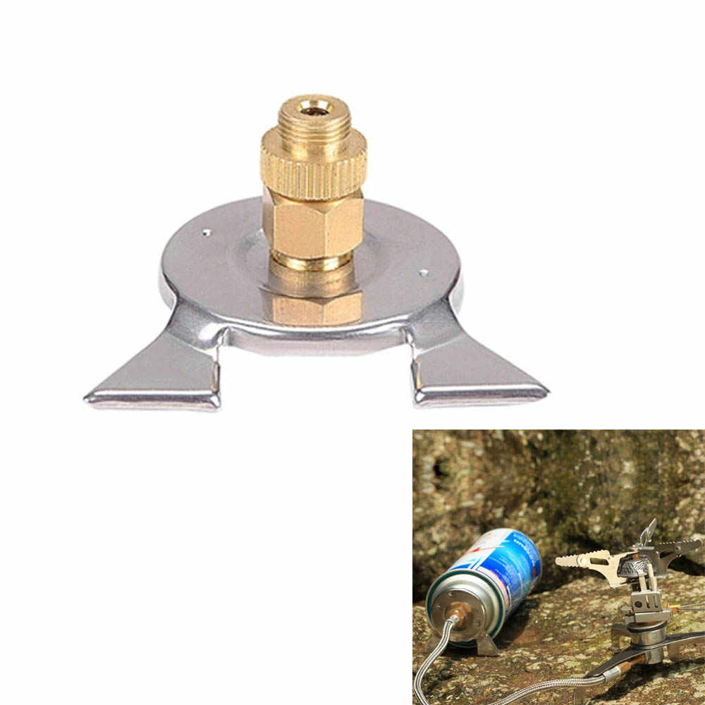 Gas Bottle Adapter Cartridge Outdoor Camping Stove Nozzle Burner Converter @