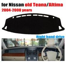 Приборной панели автомобиля крышка коврик для Nissan старый teana Altima 2004 до 2008 правым dashmat тире охватывает приборной панели авто аксессуары