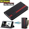 Nuevo para doogee t6 case ultra thin leather back flip case cubierta para doogee t6 pro tomar la tarjeta con soporte del sostenedor del teléfono función