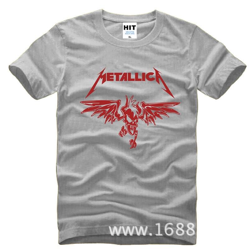 Klassik Ağır Metal Metallica Rok Kişilər üçün Köynək T-shirt - Kişi geyimi - Fotoqrafiya 4