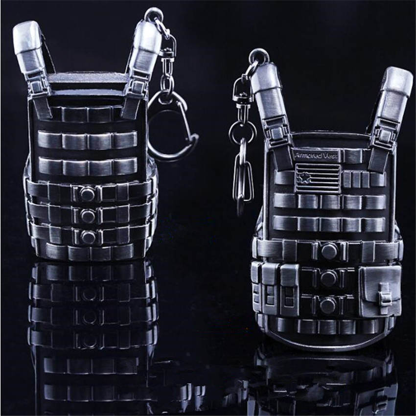 Game Pubg Playerunknowns Battlegrounds Cosplay Props Alloy Level 3 Vest Military Body Armor Model Key Chain Keychain Costume Props Costumes & Accessories