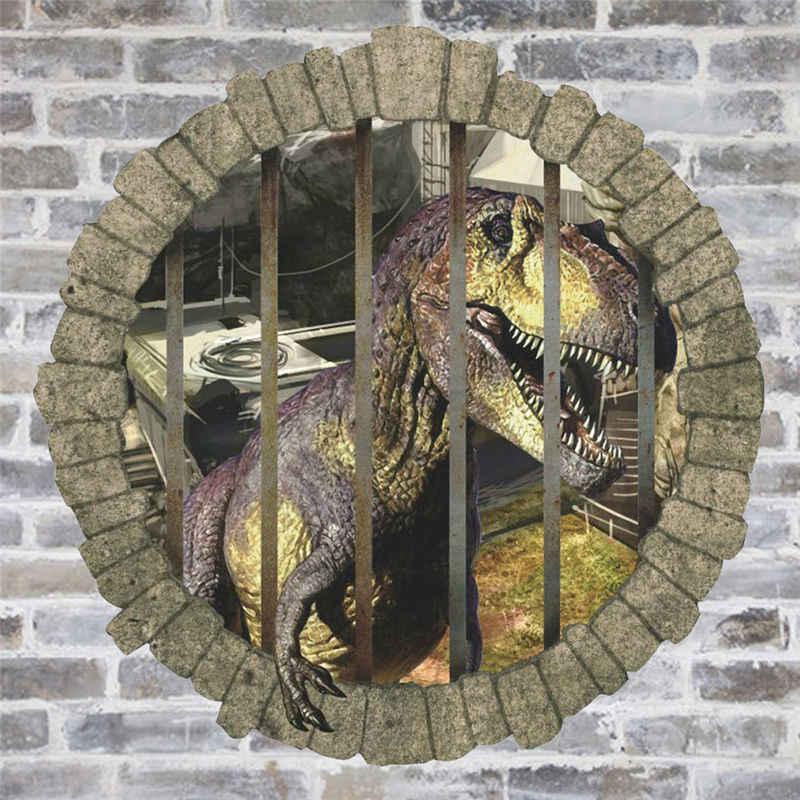 3d Динозавры через наклейки на стену Юрского периода домашняя Настенная Наклейка для детской комнаты Наклейка на стену фильм фотообои с животными 1448.