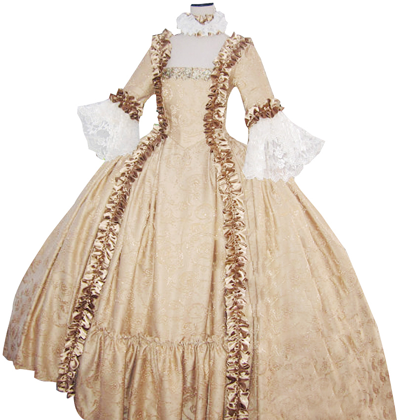 18th Century Georgian Marie Antoinette Colonial Dress Brocade Wedding Party Prom Gown Rococo Vintage Palace Garden In Underwear From Mother