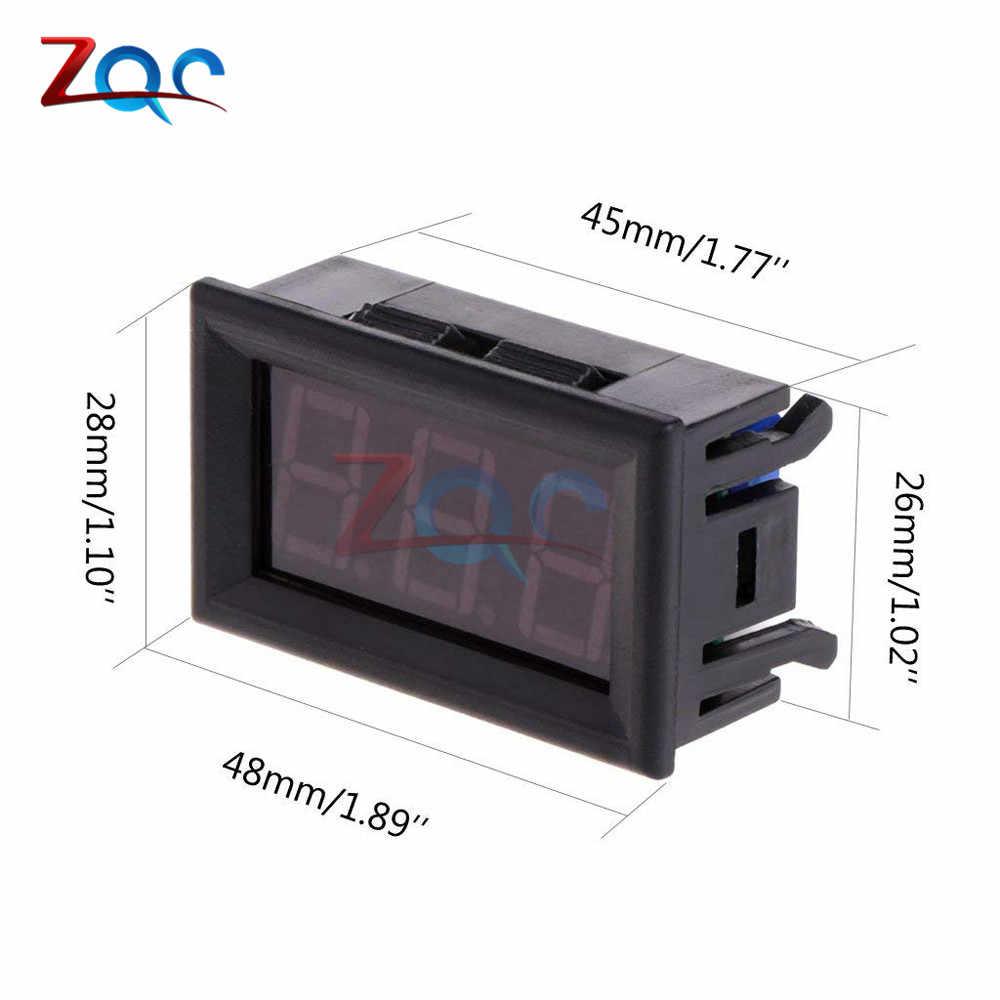 0.56 ''-50 ~ 110 จอแสดงผล LED อุณหภูมิเครื่องตรวจจับ Sensor Probe 12V ดิจิตอลเครื่องวัดอุณหภูมิเครื่องทดสอบสระว่ายน้ำในร่ม