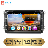 EKIY 8'' Android 8.1 Car DVD Multimedia Player GPS For VW Polo Passat B6 Golf 5 Skoda Octavia Seat Leon 2 Din Stereo Auto Radio