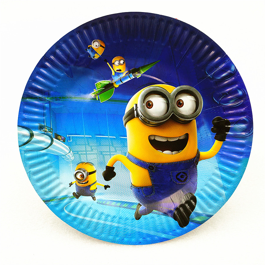 10pcs Minions Party Supplies Paper Plate Baby Shower Kids Birthday