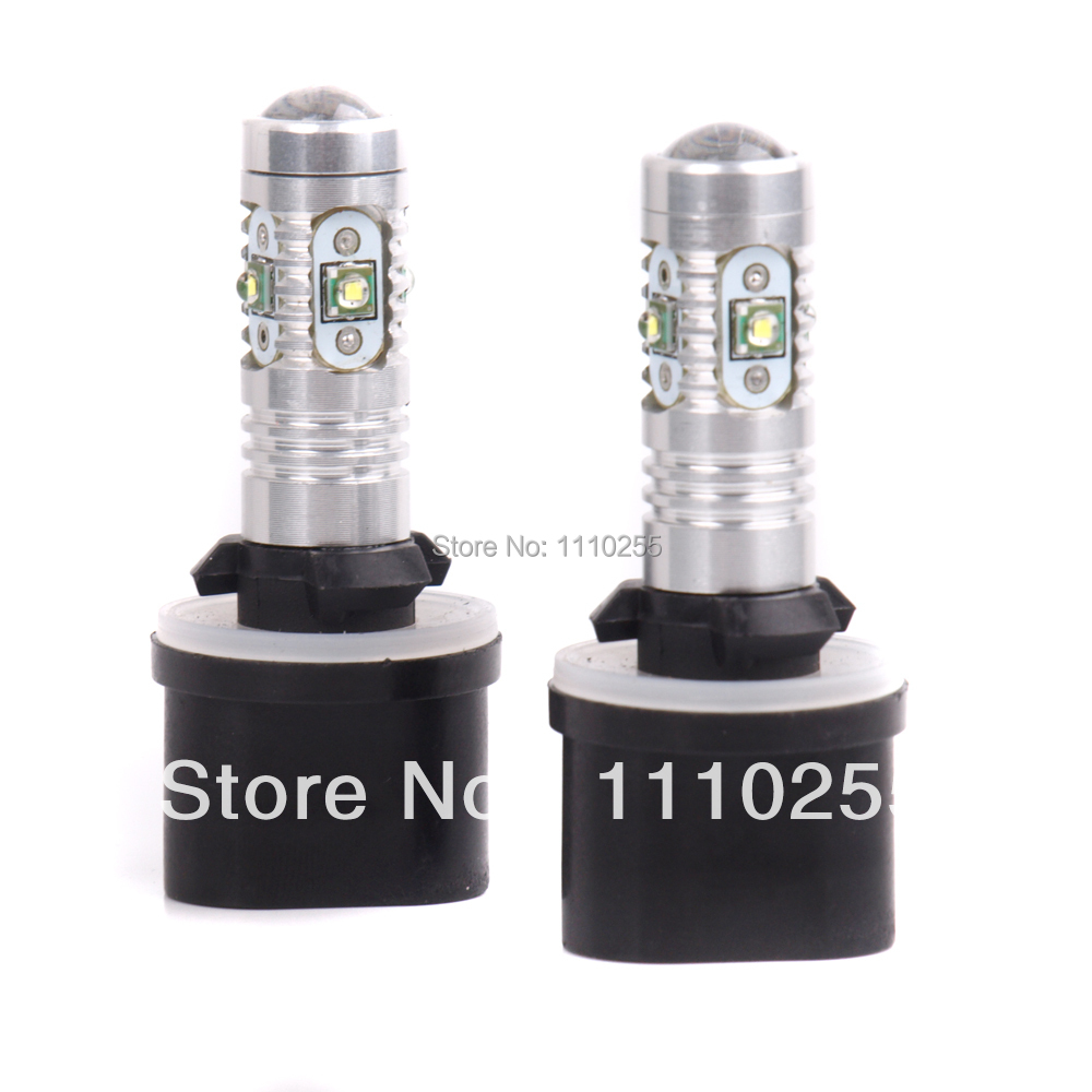 2 x 880 H27W/1 PG13 25W High Power Auto LED Headlight Fog Light Bulbs for BMW Volkswagen VW Tesla Ford Toyota Honda Lada