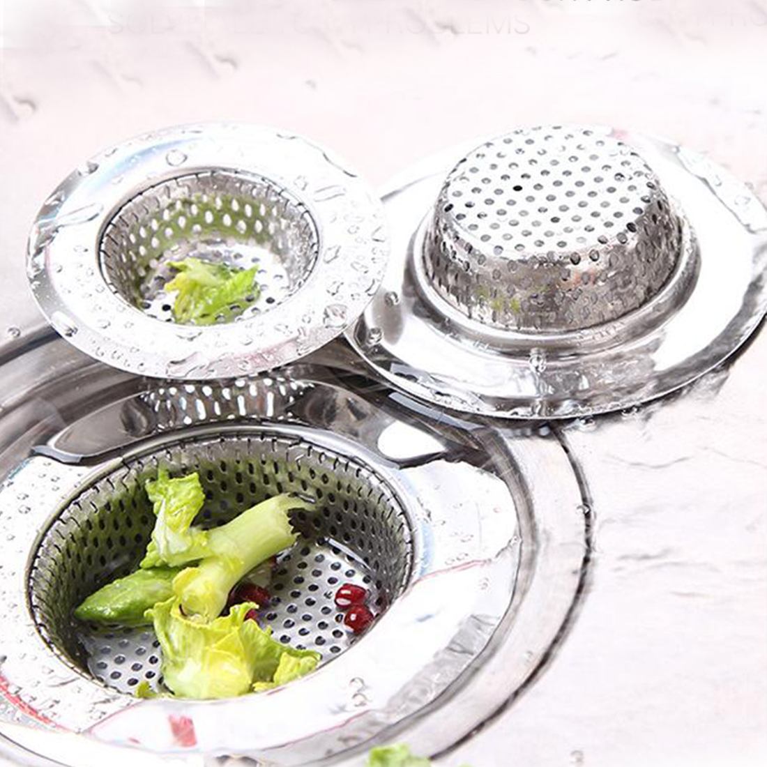 Stainless Steel Kitchen Sink Strainer Bathroom Toilet Accessories ...