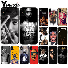 Yinuoda 2Pac Tupac Amaru Shakur  Coque Shell Phone Case for Apple iPhone 8 7 6 6S Plus X XS MAX 5 5S SE XR Cellphones yinuoda bull adventures coque shell phone case for apple iphone 8 7 6 6s plus x xs max 5 5s se xr cellphones