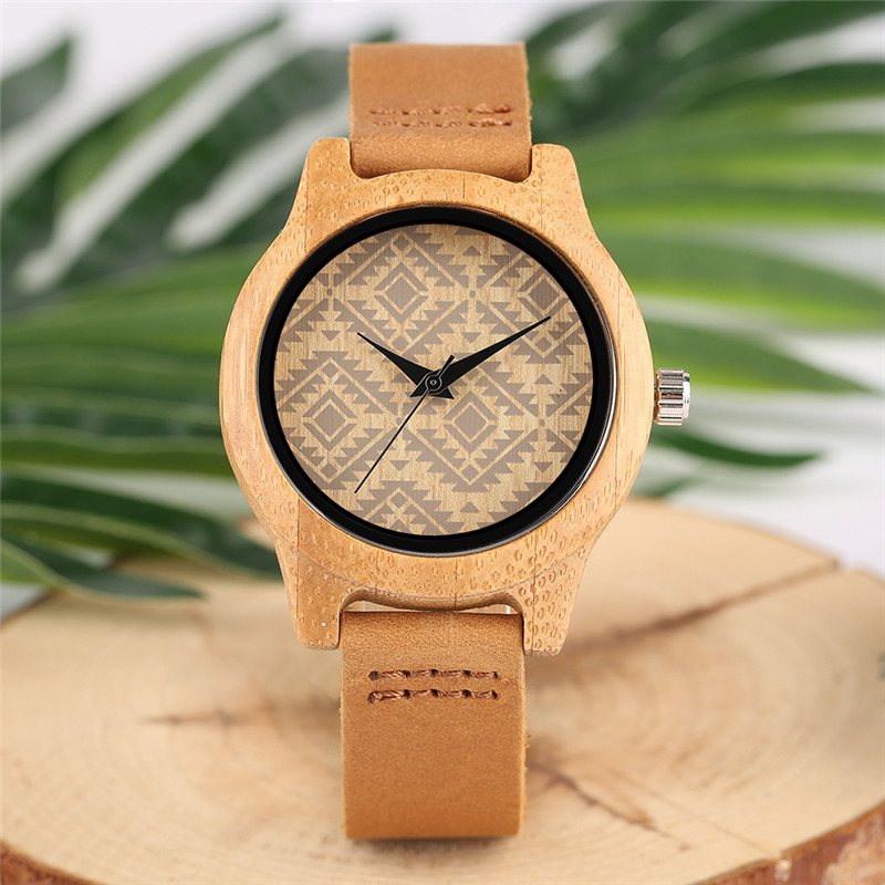 Luxury Bamboo Case Women Watches Sport Casual Wood Ladies Watch Genuine Leather Band Diamond Dial Quartz Clock Best Female Gift smartphone