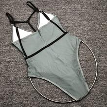 EVAW 2019 Sexy One Piece Swimsuit Green Women Swimwear High Cut Girls Monokini Summer One-piece Swimsuit Beach Bathing Suit