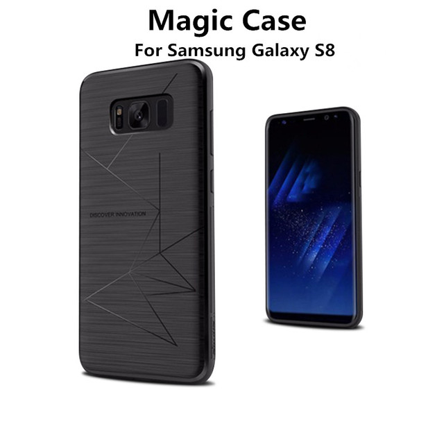 reputable site 4a943 56fc5 US $9.86 21% OFF|Nillkin Wireless Charging Case Cover for Samsung Galaxy  S8/S8 Plus Silicone back Case Magnetic Car GPS Stand Mobile Phone Bumper-in  ...