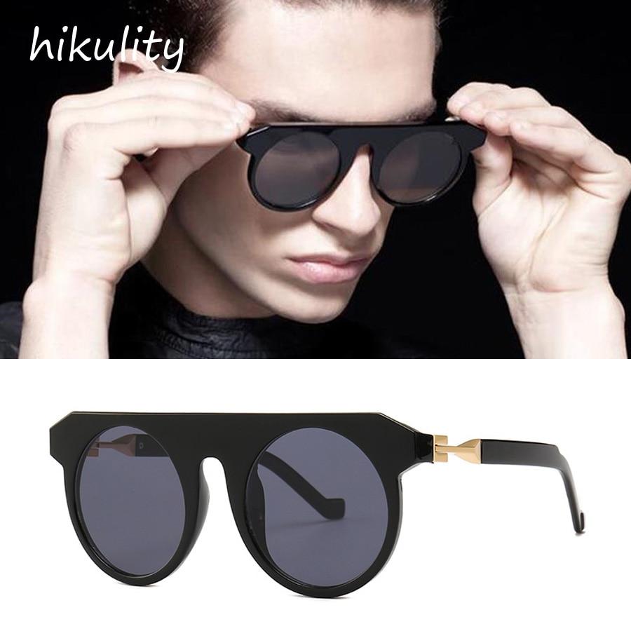 81226e Unique Concept Sunglasses Men Luxury Brand Metal Hinge Flat Top Vintage Steampunk Round Sun Glasses For Women Fashionable Patterns