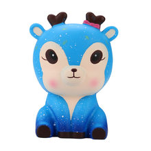 Squeeze soft 12.5cm Galaxy Cute Deer Cream Scented Squishy Slow Rising Squeeze Strap Kids Toy Gift Funny Gift Z0226(China)