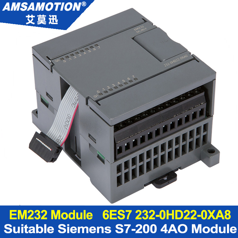 EM232 4AO Extension Module Apply to Siemens S7-200 PLC 4 Output Analog Module 6ES7 232-0HD22-0XA8 цена