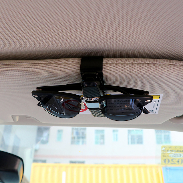 YOSOLO Eyeglasses Clip Ticket Card Clamp ABS Black Car Glasses Cases Portable Car Sun Visor Sunglasses Holder Fastener Cip