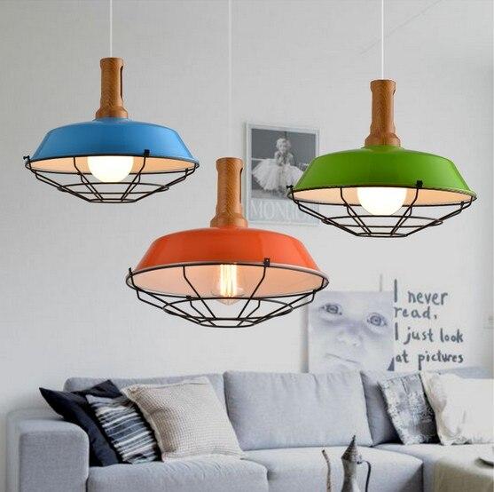 loft hanging lamp edison bulb vintage pendant light fixtures metal