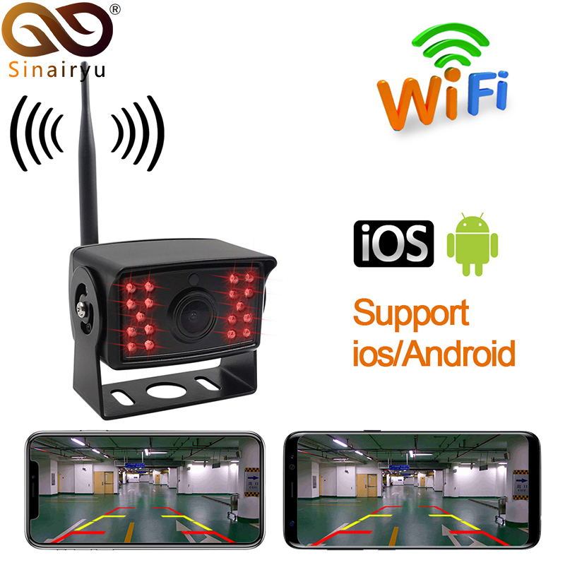 WiFi Bus Rear View Cam Backup Truck Reverse Camera Caravan for Android Ios