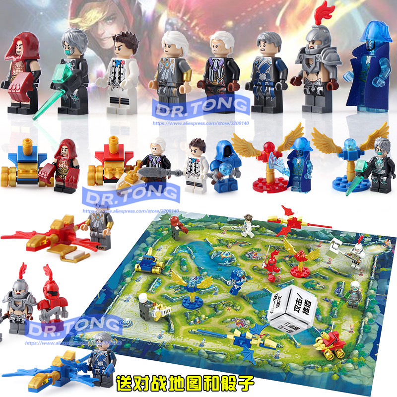 DR.TONG 80pcs/lot D1017 Super Heroes King of Glory Legend Chinese Hero Building Blocks Figures Bricks Toys Children Gifts banbao kung fu educational building blocks toys for children kids gifts super hero sky of evil temple chinese style