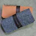 Retro Felt bag for glasses Ultralight portable box occhiali da sole Super vintage Sunglasses accessories B3