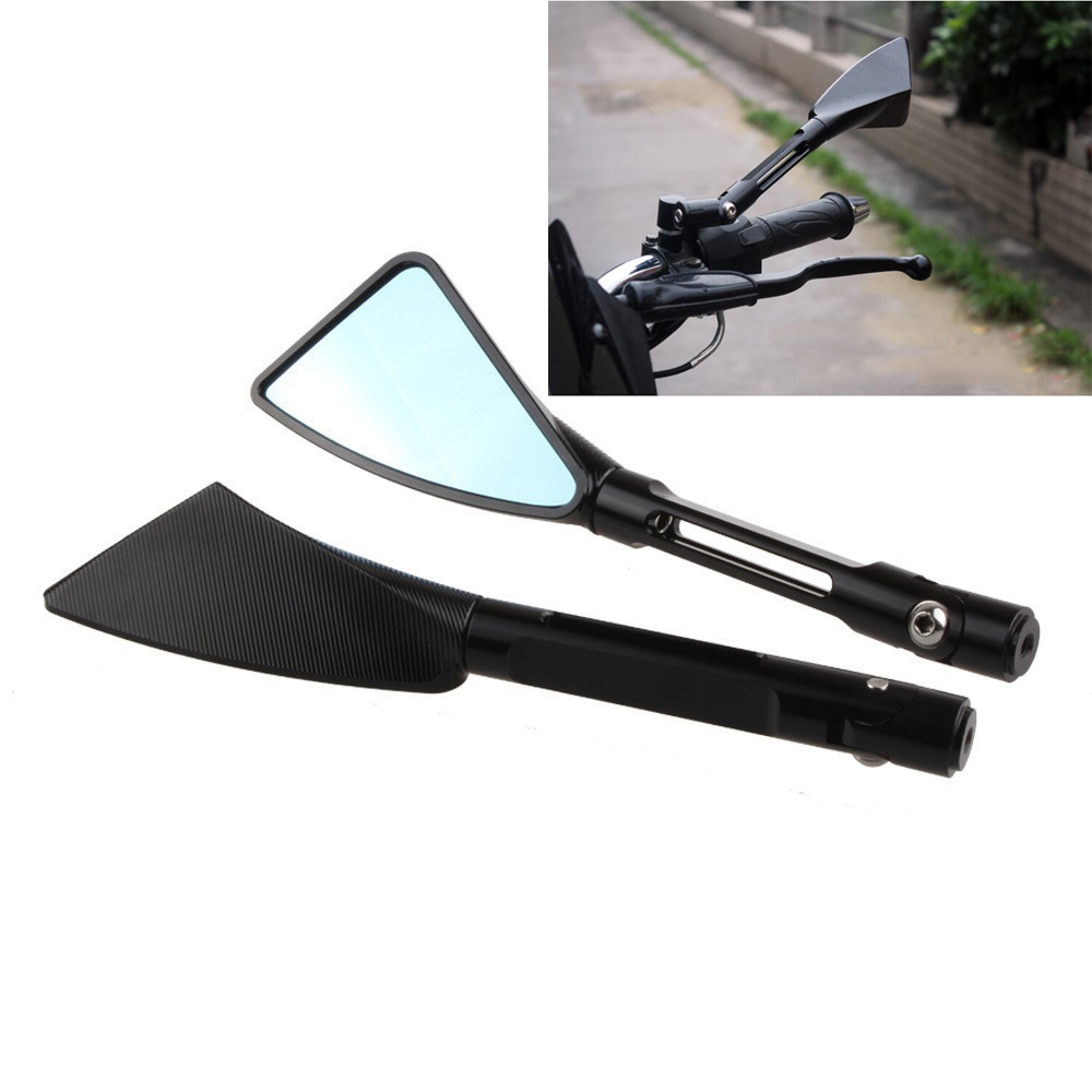 Arm Aluminum TOMOK CNC Motorcycle Rear Side Mirrors with LOGO Universal For Street Bike Sport Bike Scooter