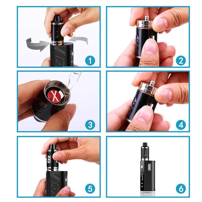 新 80 ワット e タバコのための液体ボックス mod キット蒸気煙シーシャペン電子タバコ vaper 喫煙気化器水ギセル vapes