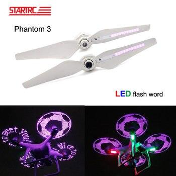 STARTRC DJI Phantom 3 pro Drone LED Flash Word For DJI Phantom 3 Pro drone Propellers USB Charger Rechargeable blades