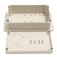 1pc White Plastic Electronic Project Instrument Case Waterproof Enclosure Box 200x120x75mm