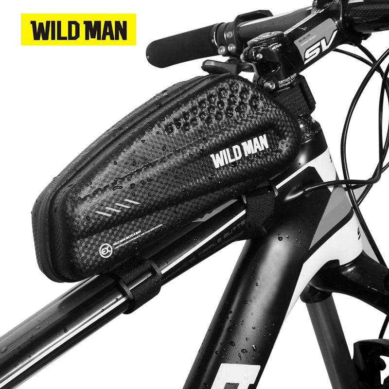 WILDMAN Road Bike MTB Waterproof Cycling Hard Shell Front Top Tube Frame Bag