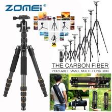 ZOMEI Q666C Carbon Fiber Tripod Lightweight Travel Stand Camera Accessories 360 Ball Head for Canon Sony Nikon Samsung DSLR Para