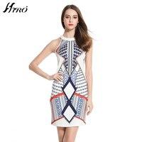 2017 HIRO Casual Summer Dresses Boho Style Halter Knee Length Dress Women Print Vintage Vestidos De