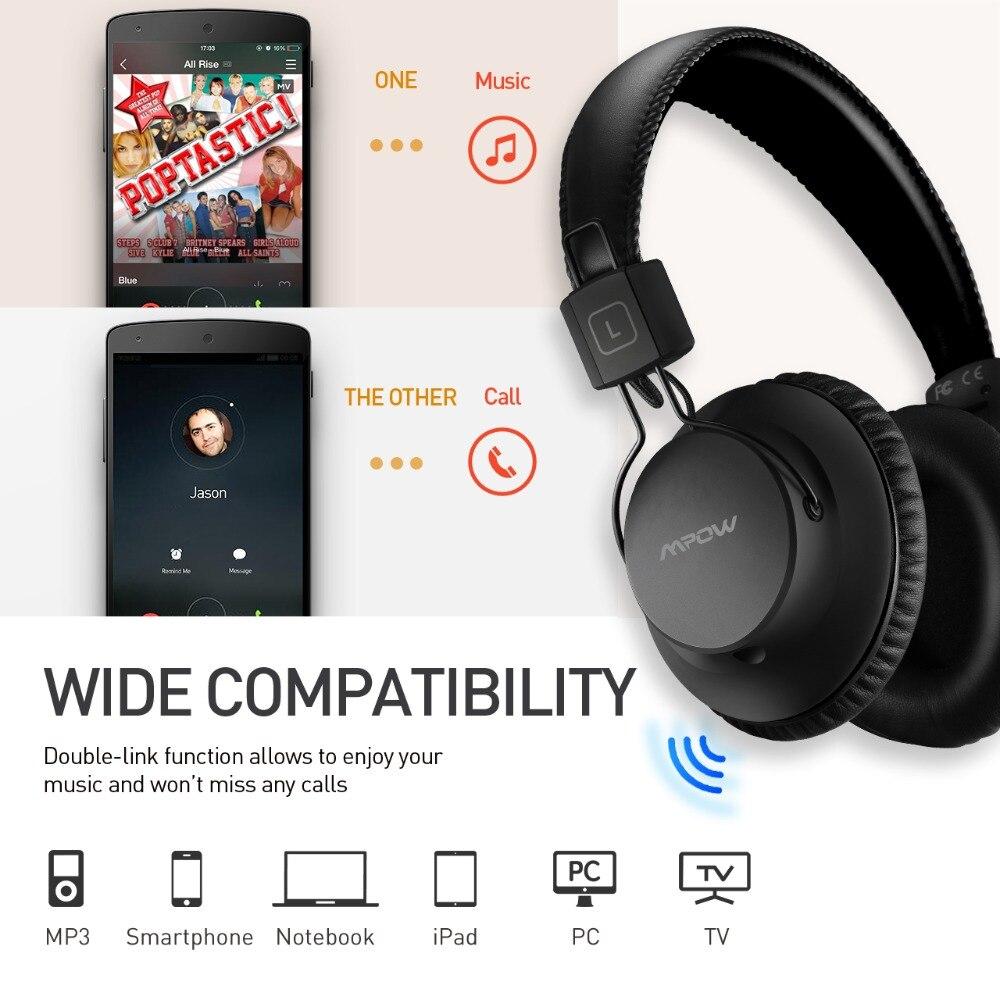 Mpow X3.0 Wireless Bluetooth Over The Ear Headphone Powerful Bass
