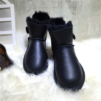 2019 Women Boots Snow Boots Genuine Sheepskin Leather Fashion Ankle Boots 100% Natural Fur Warm Wool Winter Boots Shoes